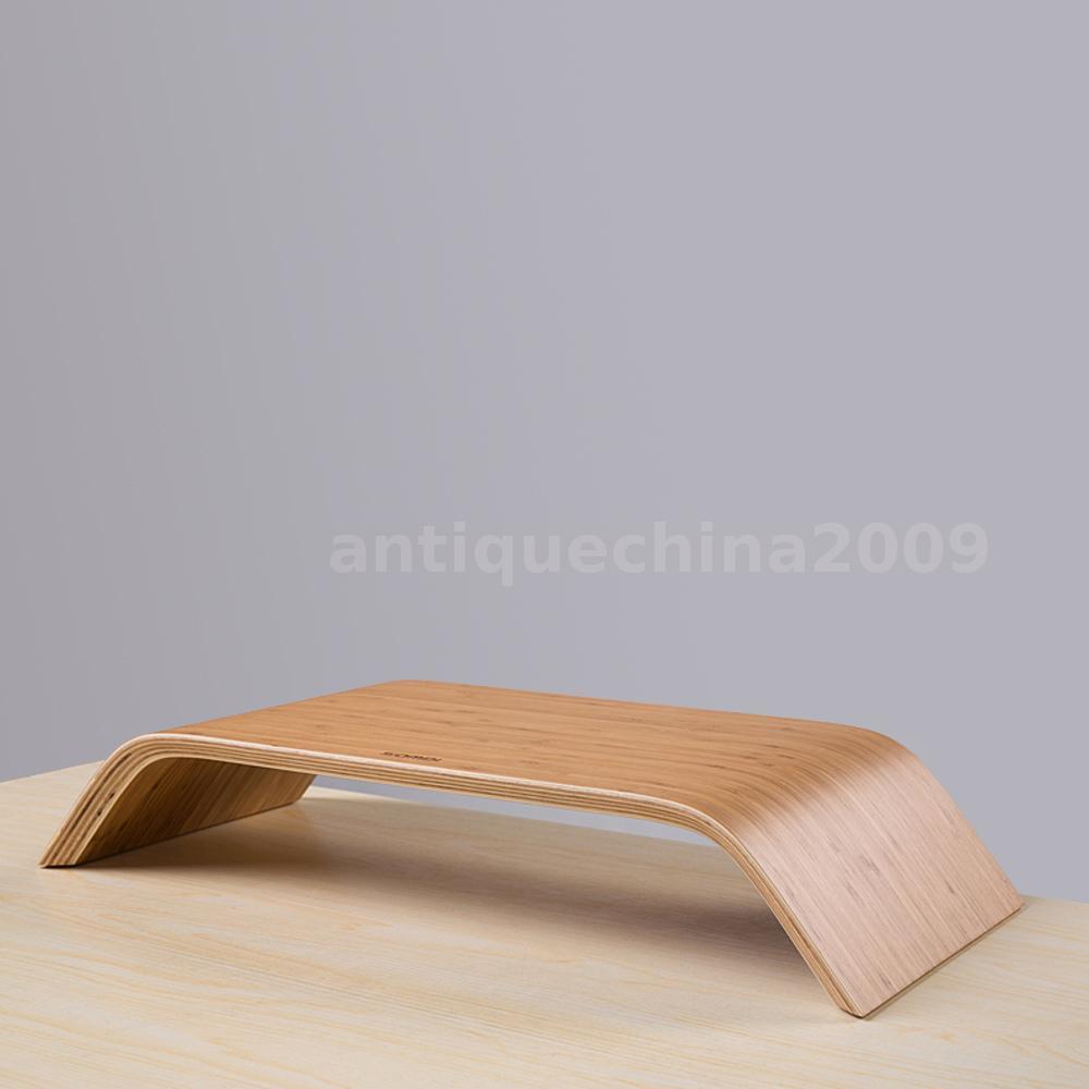 desktop monitor bambus heighten st nder station monitorst nder f r imac de r4ja ebay. Black Bedroom Furniture Sets. Home Design Ideas