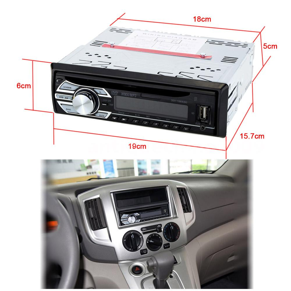 Wholesale Black Bluetooth Vintage Car Radio Mp3 From China: 12V Car Stereo Radio Audio In-Dash FM Receiver Vehicle CD