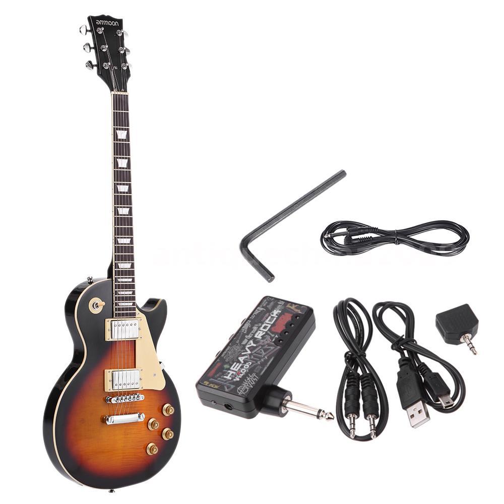 hot ammoon electric guitar 23 frets basswood body vitoos headphone amp j9v7 ebay. Black Bedroom Furniture Sets. Home Design Ideas