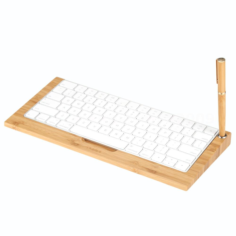3 in 1 wireless bluetooth keyboard stand wood mouse mat wrist cushion k0v8 ebay. Black Bedroom Furniture Sets. Home Design Ideas