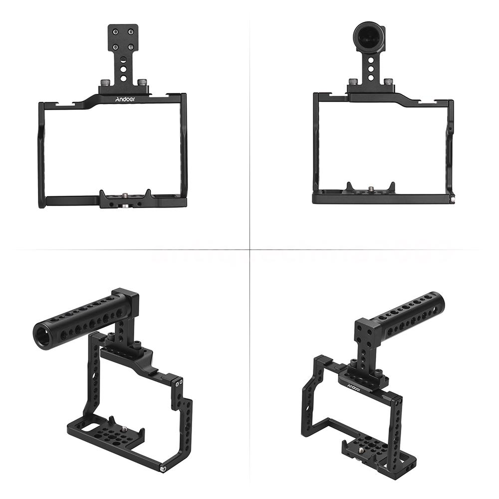 Andoer G85 Camera Cage+Top Handle Stabilizer Kit for