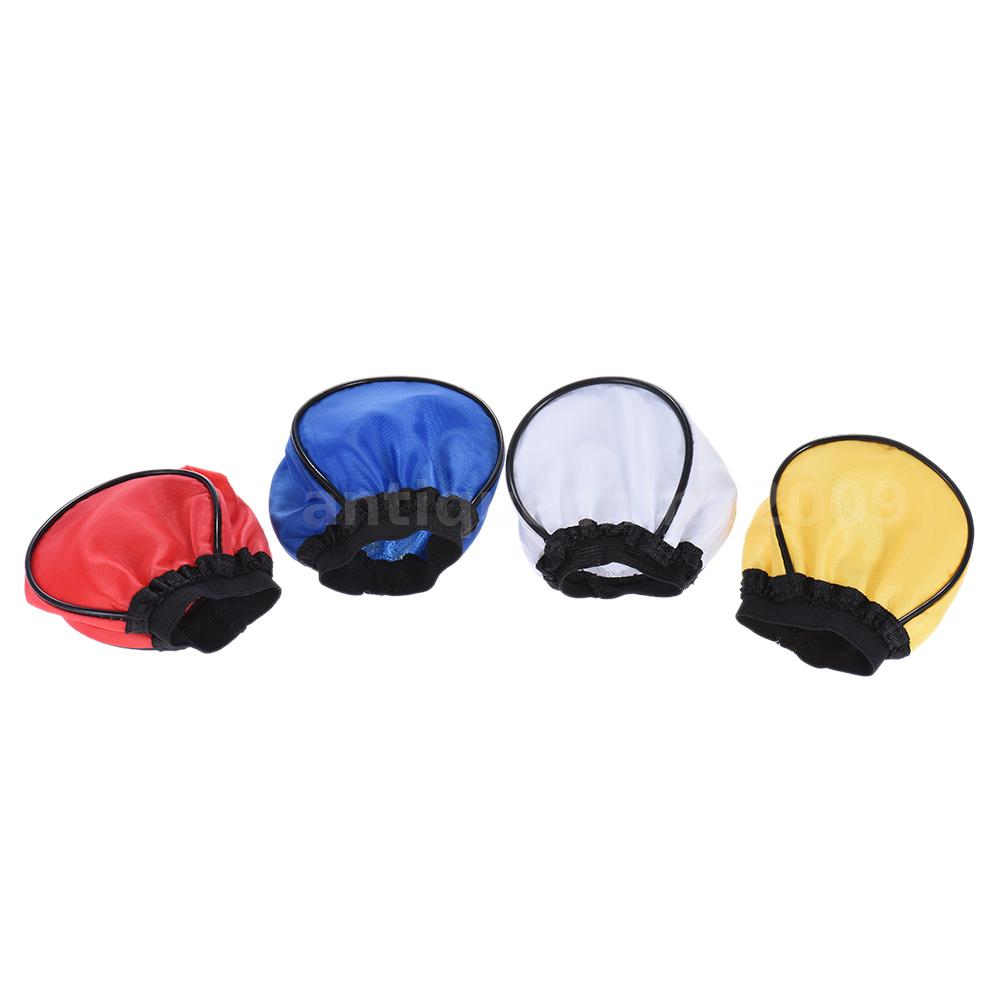flash speedlite light bounce 4x color diffuser softbox dome for