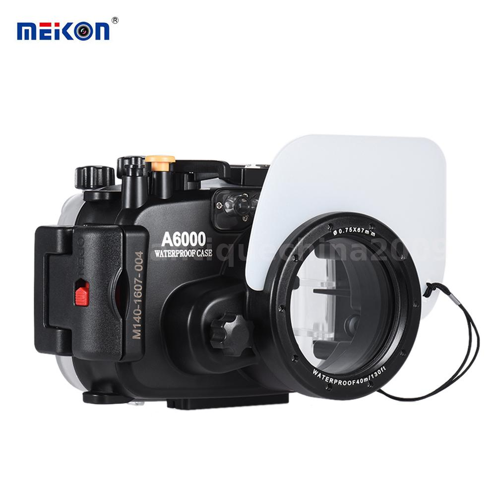 meikon pro 40m underwater waterproof camera housing case kit for sony a6000 k8f8 ebay. Black Bedroom Furniture Sets. Home Design Ideas