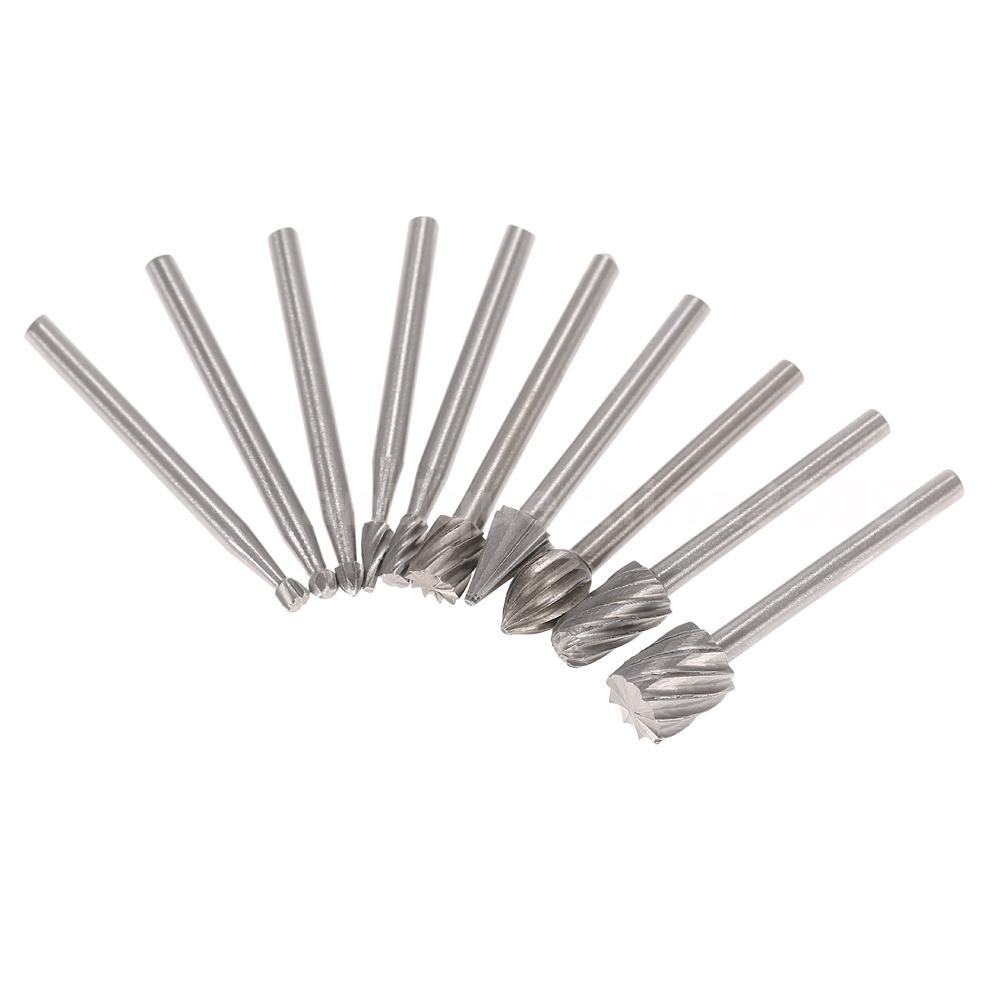 10pcs High Speed Steel Burr Bit 3mm Rotary Cutter Files