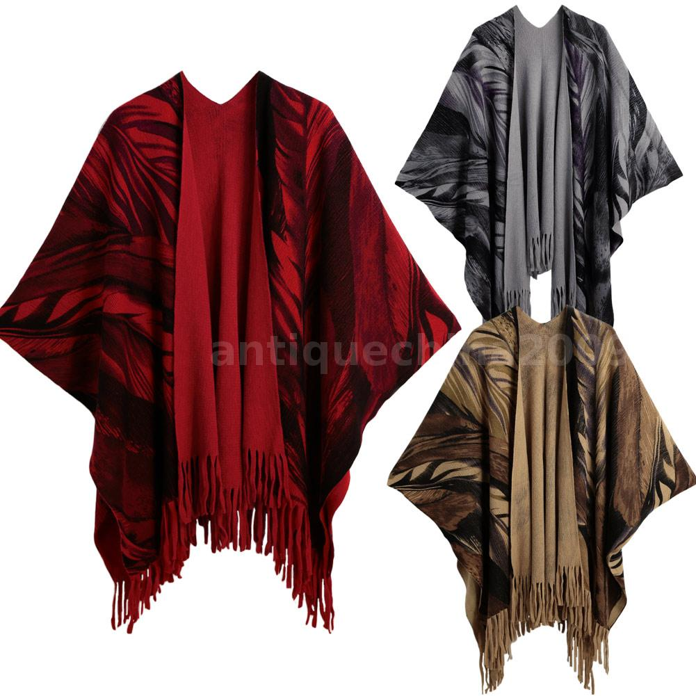 winter s thick tassels cape pashmina stole scarves