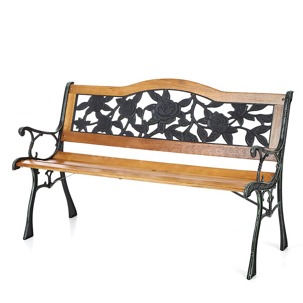 Ikayaa outdoor garden patio bench furniture porch backyard for Lawn and garden furniture
