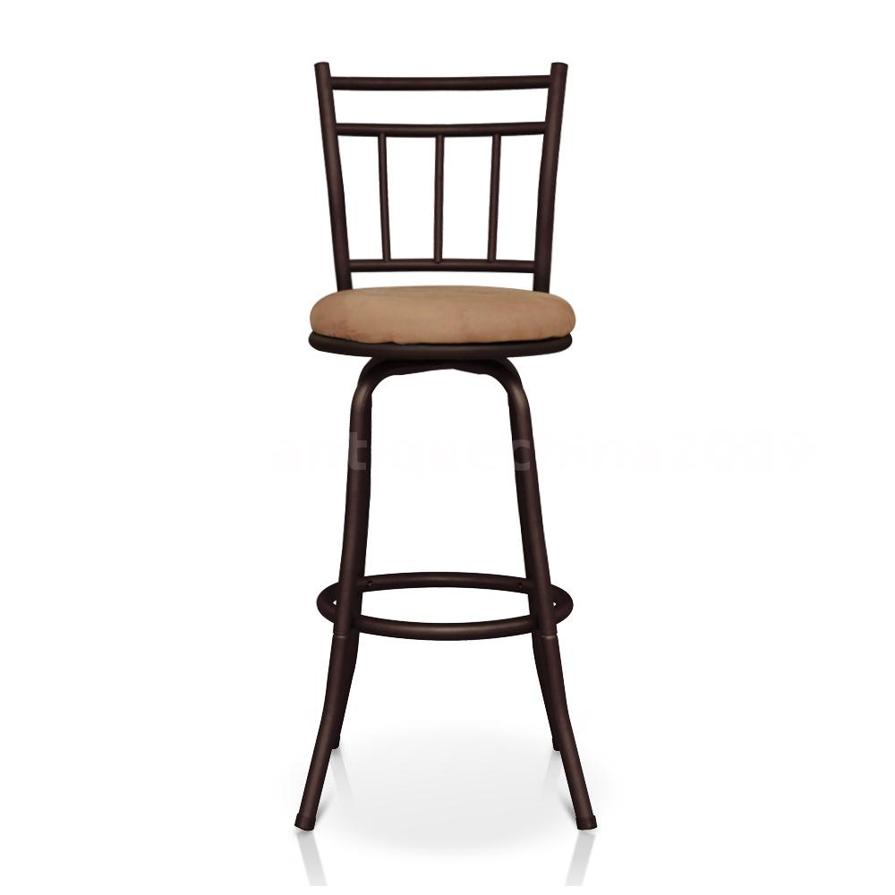 Industrial Swivel Barstool With Backrest Foam Padded Y4v3