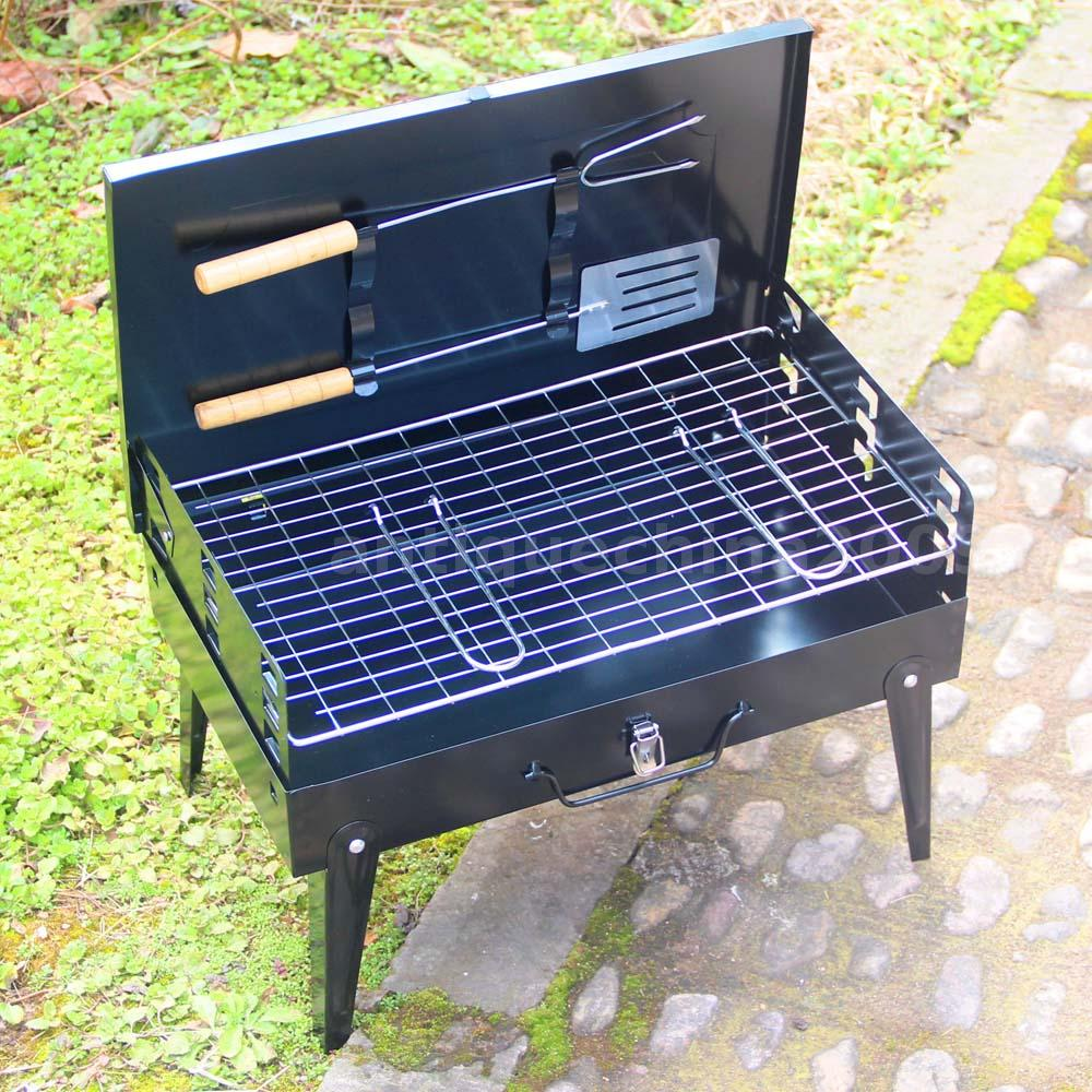 Portable Outdoor Griddle ~ Portable folding charcoal bbq barbecue grill garden