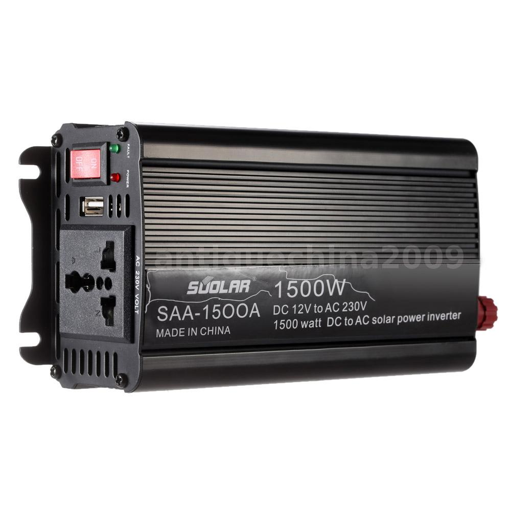 Anself 1500w Solar Power Inverter Converter Usb Interface