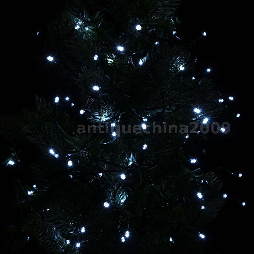 Solar Christmas Tree String Lights : Solar Power 100 White LED String Fairy Lights Decoration Christmas Tree Party eBay