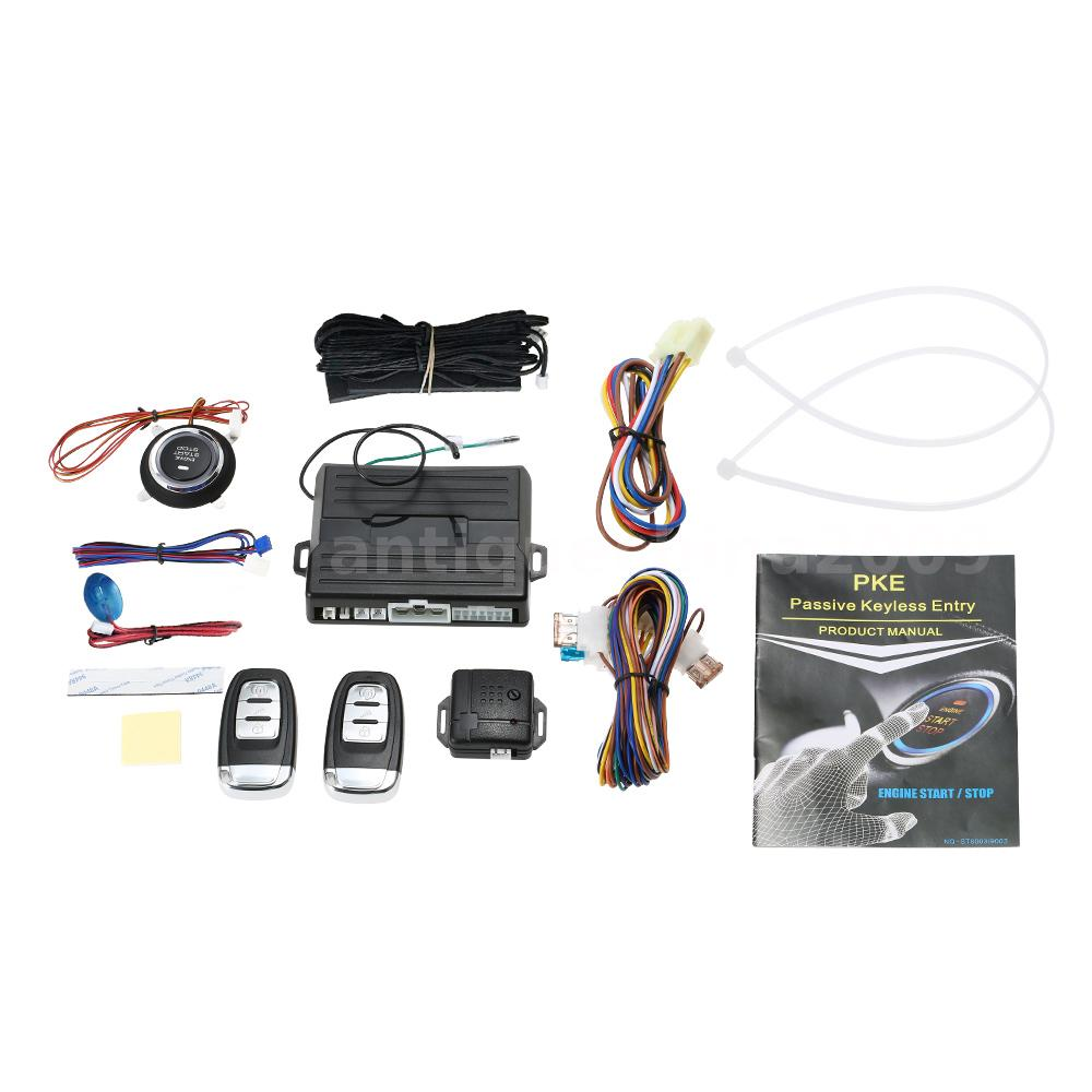 Universal Key Pke Passive Keyless Entry Car Alarm System Engine Omega Wiring Diagram This Is A Easyguard With Remote Start Push Button Stop Which Can Improve Your Safety