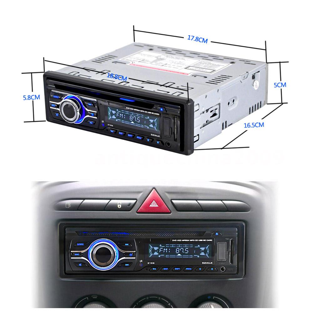 12V Car CD DVD MP3 Player Stereo Radio Player FM Aux Input