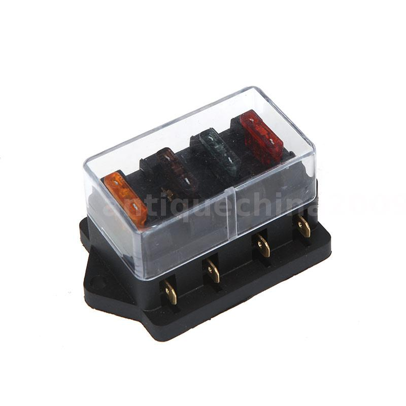 fuse holder box 4 way car vehicle circuit automotive blade. Black Bedroom Furniture Sets. Home Design Ideas