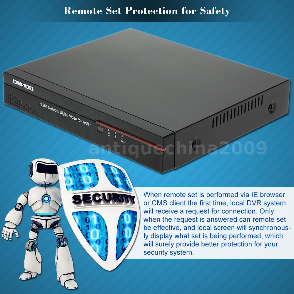 8CH FULL 960H D1 H264 DVR Network HD for CCTV Home Security Camera ...