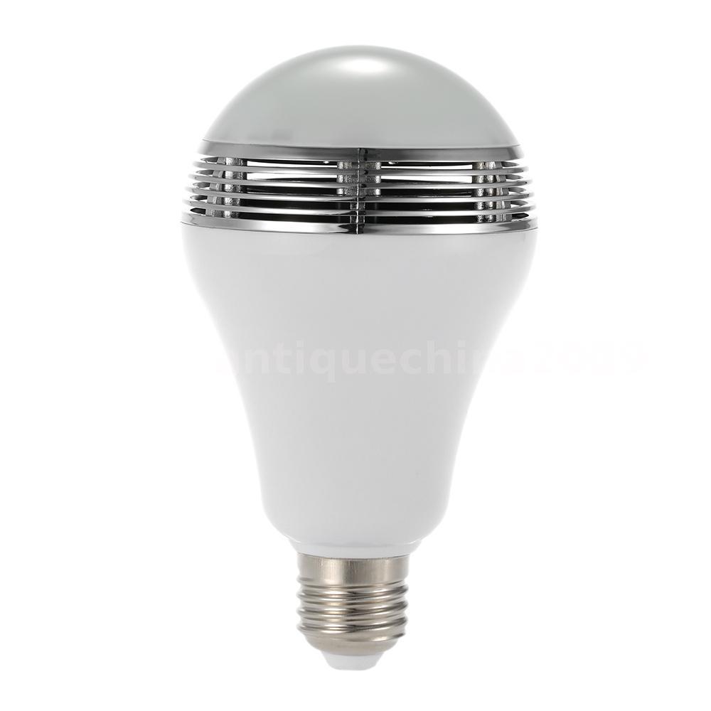 Led rgb bulb light e27 bluetooth control hifi smart music for Bluetooth controlled light bulb