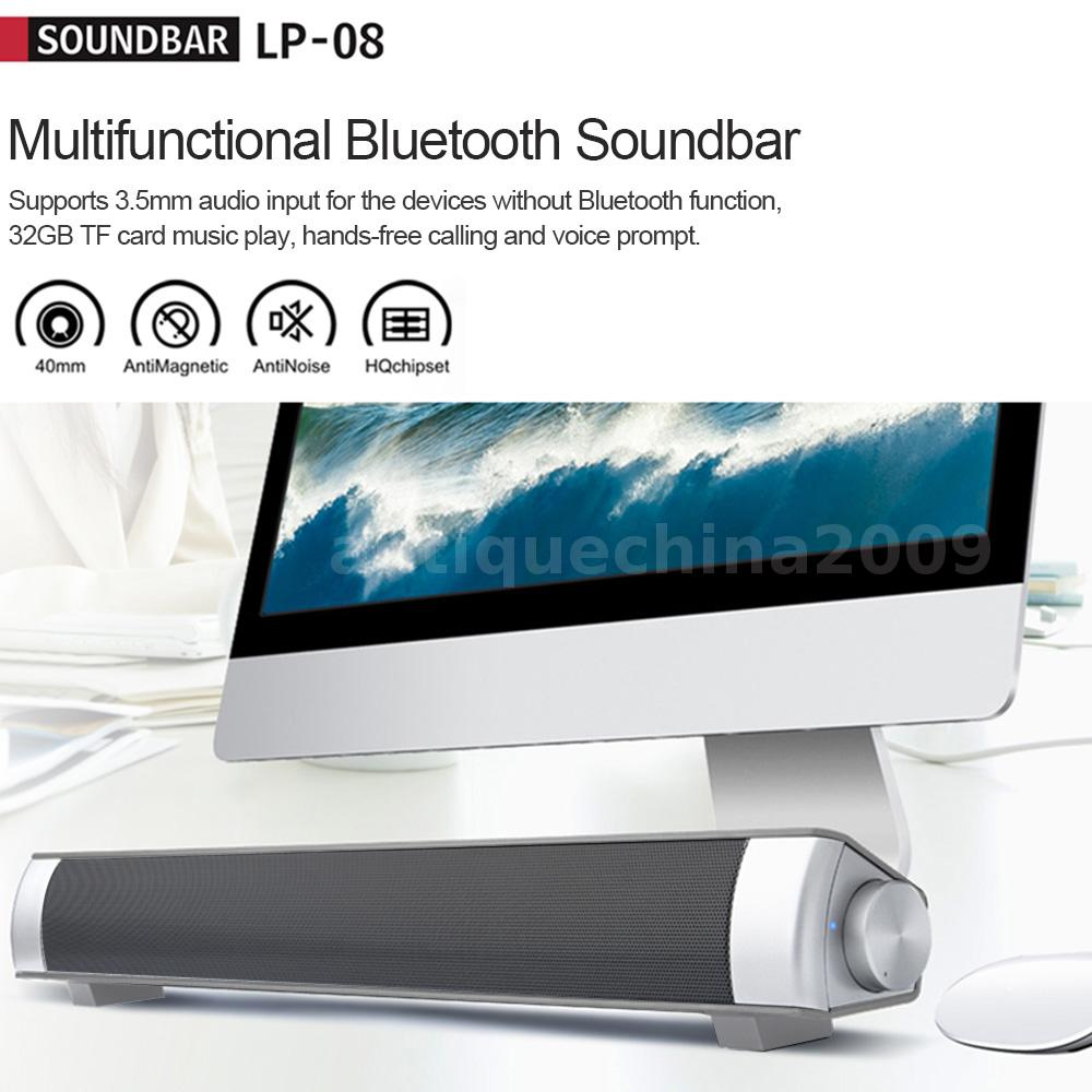 tv pc home theater soundbar bluetooth sound bar speaker subwoofer handsfree k5d7 ebay. Black Bedroom Furniture Sets. Home Design Ideas