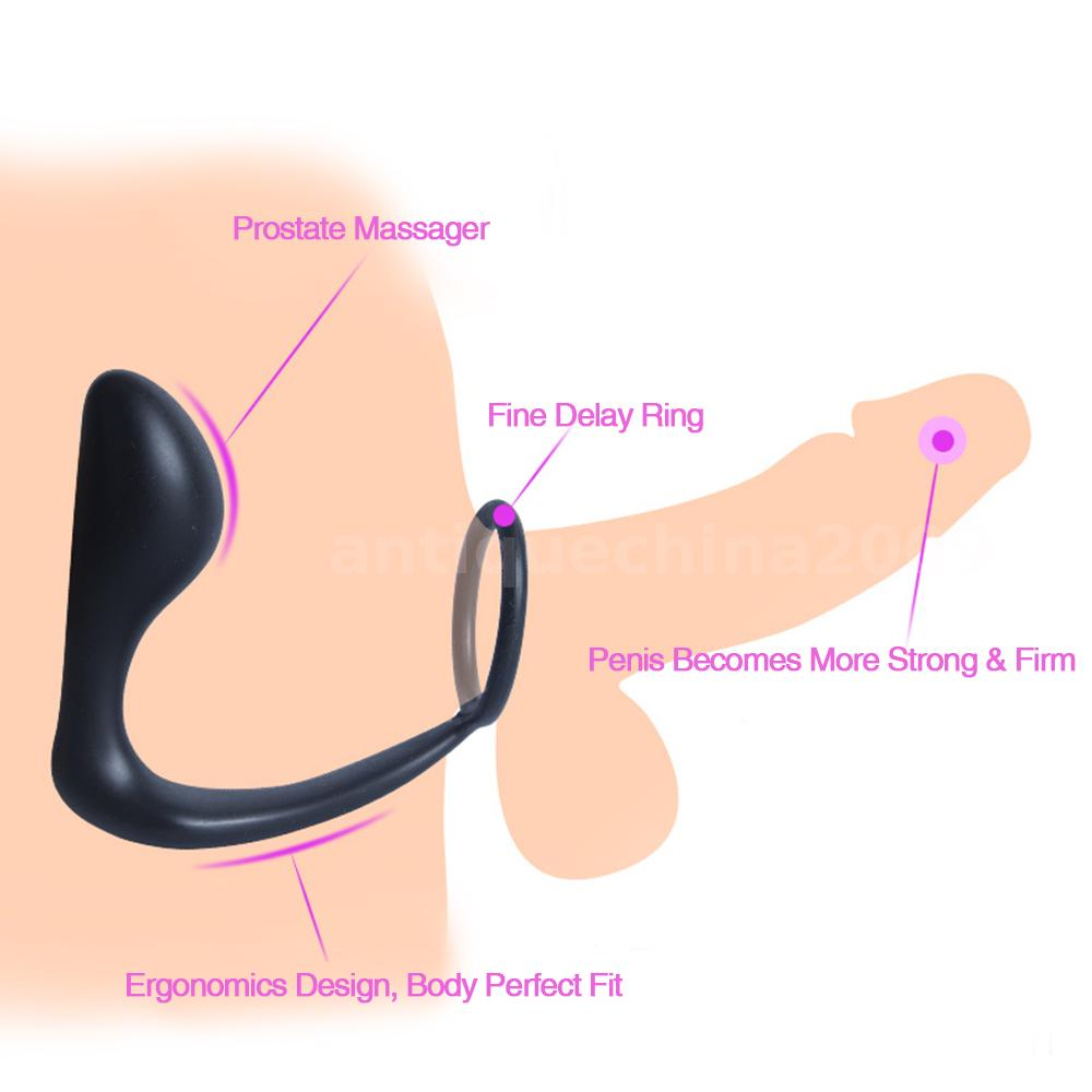 Silicone Prostate Massager Stimulation Mans Strap On Ring -9877