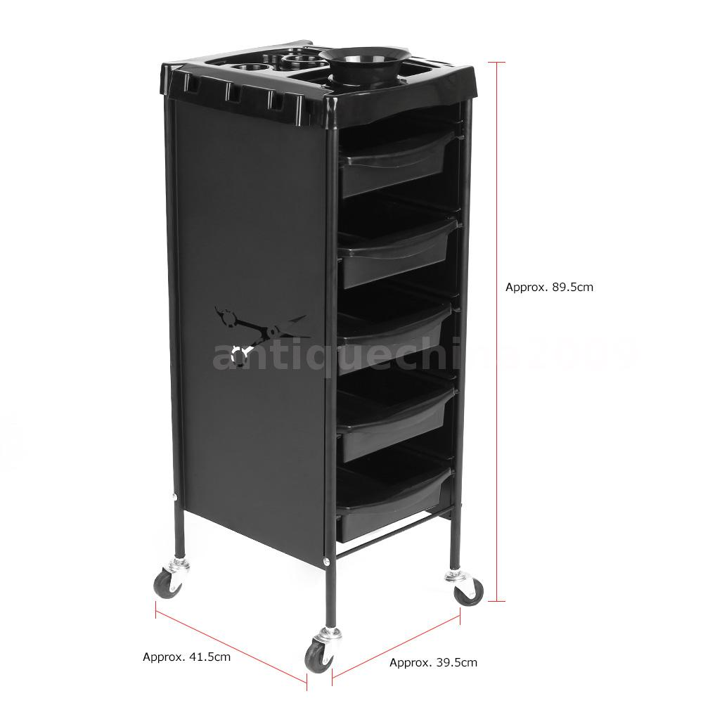 Rolling hair colouring cart salon trolley storage drawers for Salon trolley