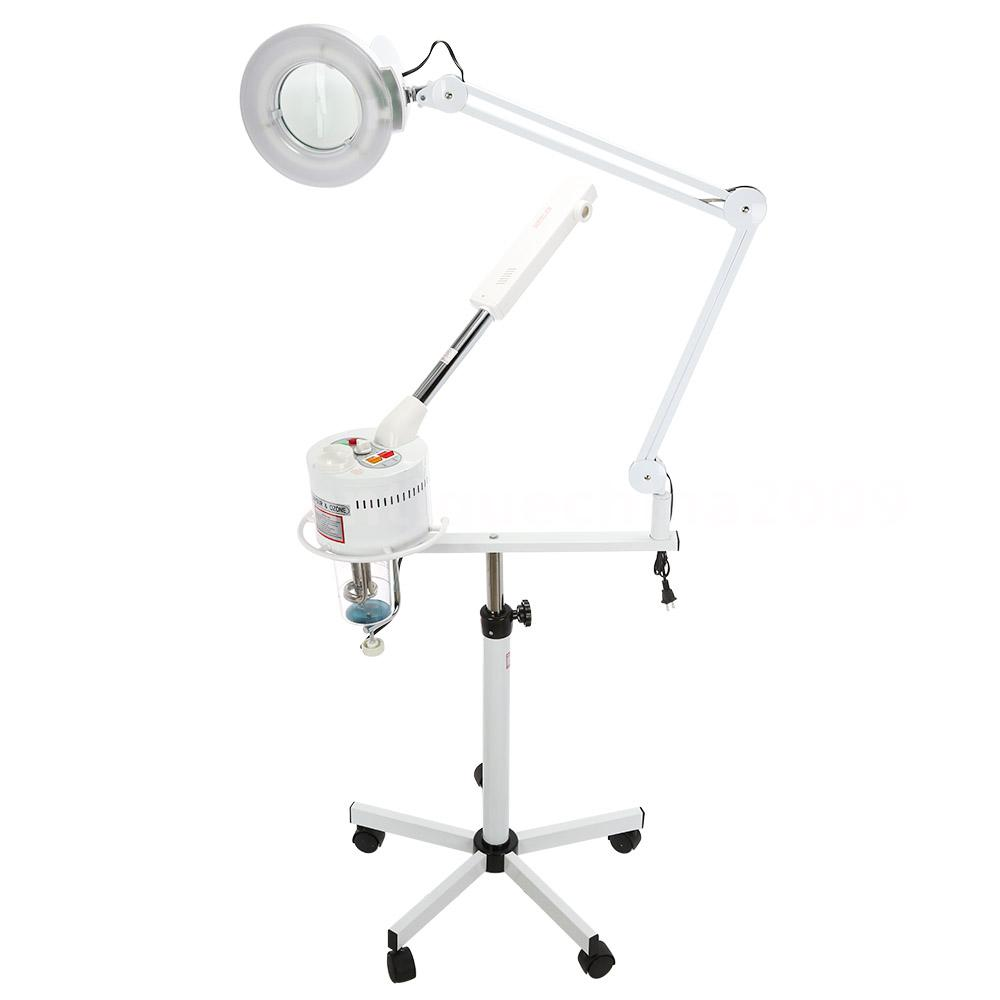 Hot Facial Steamer 5X Magnifying Lamp UV Ozone Steamer