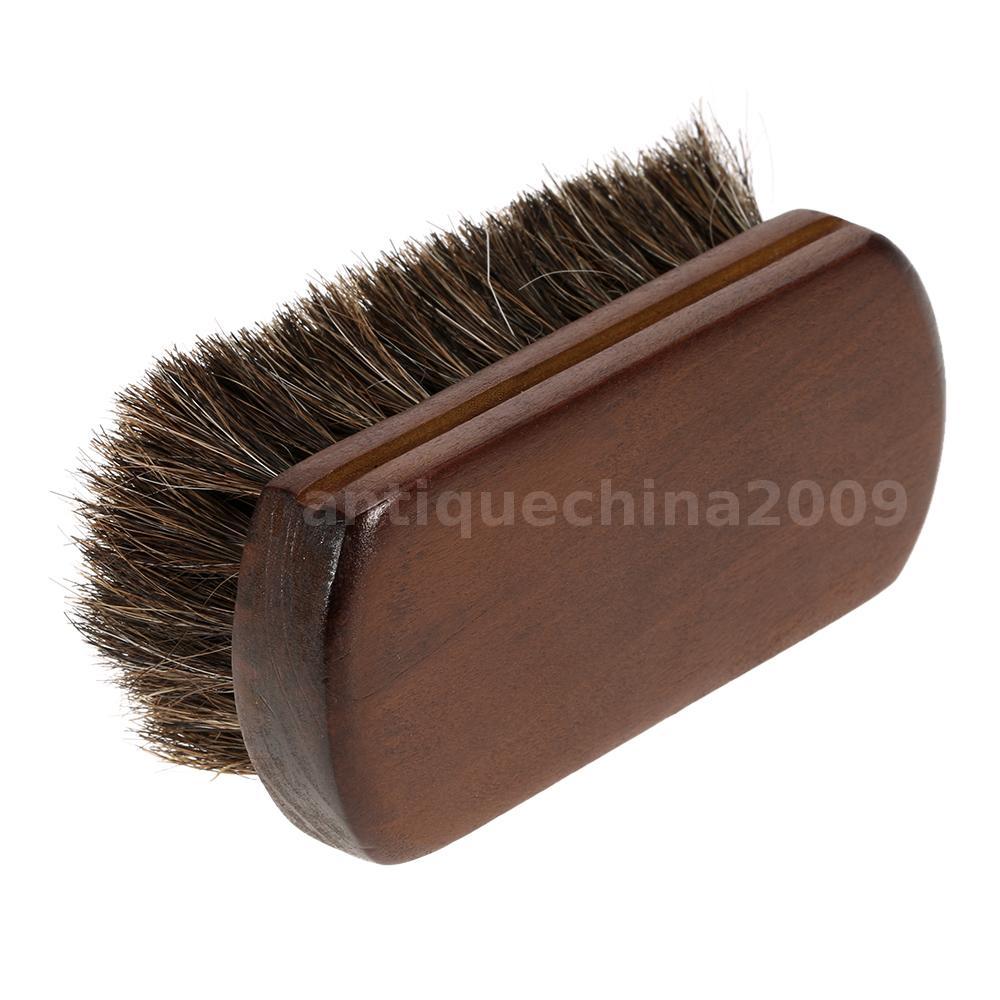 Men beard brush natural horse hair mustache shaving brush - Natural horse hair interior upholstery brush ...
