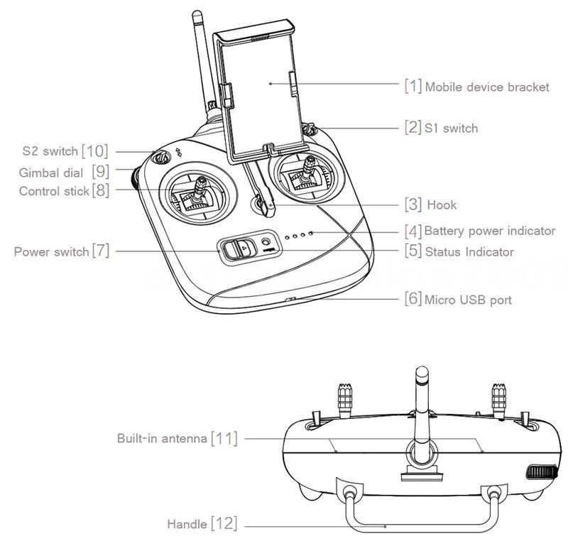 DJI Phantom 3 SE 4km Control Range 4K Camera Vision
